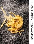 fresh pasta preparing. top view ... | Shutterstock . vector #648041764