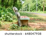 concrete chair on the road side ... | Shutterstock . vector #648047938