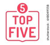 top five with number 5. badge...   Shutterstock .eps vector #648049558