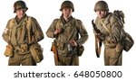 american infantry officer and...   Shutterstock . vector #648050800