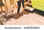 footstep of group asia traveler ... | Shutterstock . vector #648054844