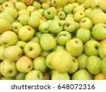 yellow apples harvest. many... | Shutterstock . vector #648072316