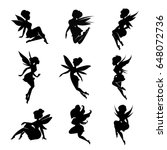 Set Of Silhouettes Of Fairies...
