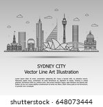 line art vector illustration of ... | Shutterstock .eps vector #648073444
