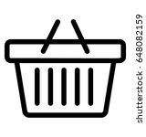 basket vector icon | Shutterstock .eps vector #648082159