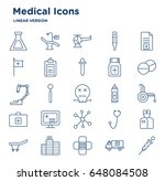 set of medical related vector... | Shutterstock .eps vector #648084508
