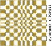 checkered op art vector... | Shutterstock .eps vector #648084598