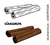 cinnamon vector illustration... | Shutterstock .eps vector #648090568