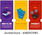 cinema tickets set | Shutterstock .eps vector #648092980