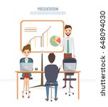 business people teamwork with... | Shutterstock .eps vector #648094030