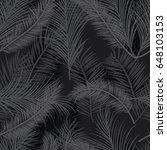 seamless black palm tree leaves ...   Shutterstock .eps vector #648103153