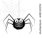 black spider | Shutterstock .eps vector #648110254