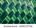 basket making  zigzag weave of... | Shutterstock . vector #648113746