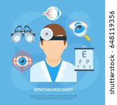 ophthalmologist icon  eye and... | Shutterstock .eps vector #648119356