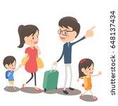 family trip | Shutterstock .eps vector #648137434