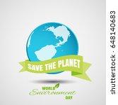 vector poster of world... | Shutterstock .eps vector #648140683