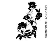 vector floral silhouette on... | Shutterstock .eps vector #64814584