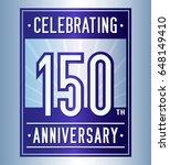 150 years anniversary design... | Shutterstock .eps vector #648149410