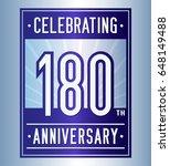180 years anniversary design... | Shutterstock .eps vector #648149488