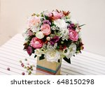 a bunch of yellow roses  ... | Shutterstock . vector #648150298
