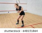 squash game training  female... | Shutterstock . vector #648151864