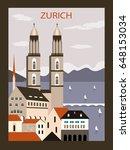 zurich old city in switzerland...   Shutterstock . vector #648153034