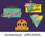 set of surf vintage logo.  | Shutterstock .eps vector #648154444