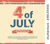 united states independence day... | Shutterstock .eps vector #648155443