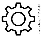 gear line vector icon | Shutterstock .eps vector #648155533