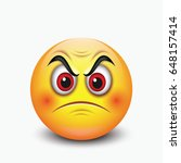 angry emoticon   emoji   vector ... | Shutterstock .eps vector #648157414