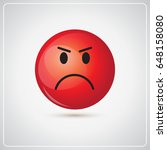 red cartoon face angry people... | Shutterstock .eps vector #648158080