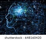 cpu mind series. backdrop of... | Shutterstock . vector #648160420