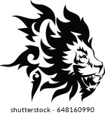 lion tattoo graphic for back... | Shutterstock .eps vector #648160990