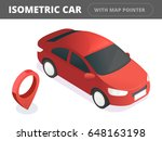 isometric car. isometric red... | Shutterstock .eps vector #648163198
