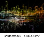 connected world series. design... | Shutterstock . vector #648164590