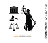 justice court building image... | Shutterstock .eps vector #648164710