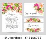 vintage delicate invitation... | Shutterstock .eps vector #648166783