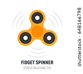 fidget spinner. stress...   Shutterstock .eps vector #648166798