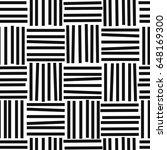 black and white seamless... | Shutterstock .eps vector #648169300