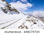 on the road in leh ladakh... | Shutterstock . vector #648174724