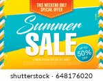 summer sale template banner in... | Shutterstock .eps vector #648176020