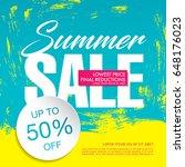 summer sale template banner in... | Shutterstock .eps vector #648176023