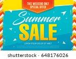 summer sale template banner in... | Shutterstock .eps vector #648176026