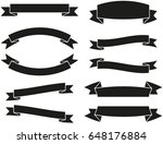 vector ribbons banners set | Shutterstock .eps vector #648176884