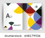 abstract circle design business ... | Shutterstock . vector #648179536