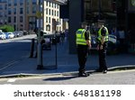 police officer on duty on a... | Shutterstock . vector #648181198
