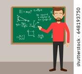 male teacher in classroom next... | Shutterstock .eps vector #648193750