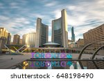 Stock photo toronto city hall on a early spring morning 648198490