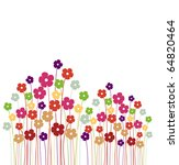 Stock vector vector background with flowers 64820464