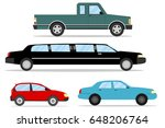 cars  a set of cars  pickup  a... | Shutterstock .eps vector #648206764